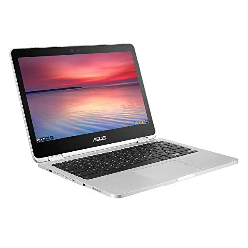"""Asus Chromebook C302CA-GU005 PC Portable Convertible 13"""" FHD gris (Intel Pentium, RAM 4Go, EMMC 64Go, Chrome OS) Clavier AZERTY Français"""