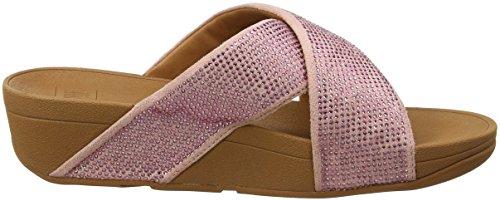 Fitflop Ritzy Slide Sandals, Sandali Punta Aperta Donna Pink (Dusky Pink)