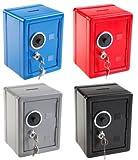Risparmio salvadanaio cassaforte cassetta PORTAVALORI/Vaso/dimensioni: 12x 10,5x 16cm/colore: nero