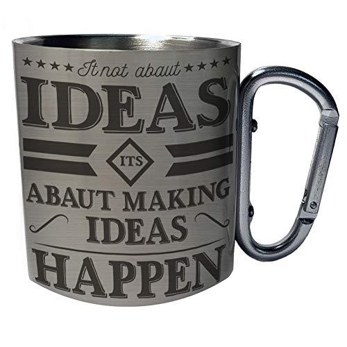 Ideas Abaut Making Happen Edelstahl Karabiner Reisebecher 11oz Becher Tasse gg324c