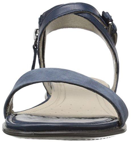 ECCO Touch Sandal, Scarpe Col Tacco con Cinturino a T Donna Blu(Marine/Marine 50595)