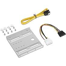 Adaptare 46814–Kit da incasso 6,35cm (2,5pollici) unità in 8,9cm (3,5pollici) Schacht con 50cm SATA cavo dati/alimentazione Argento