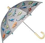 Hatley Printed Umbrellas Paraguas, Gris (Wild Dinos 020), Talla única (Talla del fabricante: O/S) para Niños