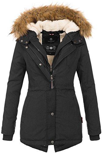 Marikoo Designer Damen Winter Parka warme Winterjacke Mantel Jacke B601