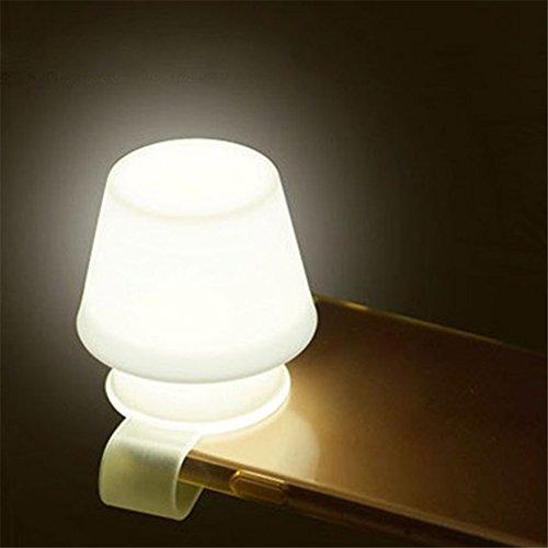 Gfeu Handy-Lampenschirm mit Clip, aus weichem Silikon, Mini-Lampenschirm fürs Handy als Nachtlicht,...