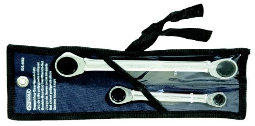 KS Tools 503.4552 Jeu de 2 clés polygonales à cliquet Diamètre 10 x 13/17 x 19 mm trousse