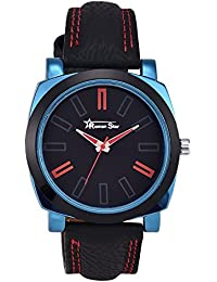 Roman Star RS020 Midnight Black Coloured With Black Leather Strap Quartz Watch For Men