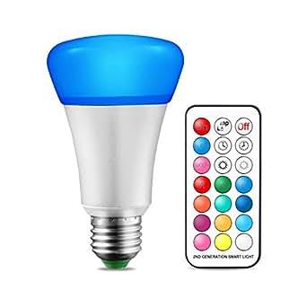 ampoule de changement de couleur e27 10w dimmable rgbw led ampoules avec t l commande double. Black Bedroom Furniture Sets. Home Design Ideas