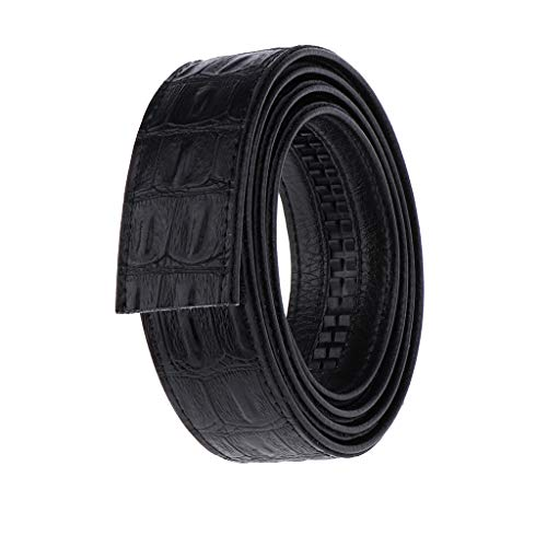 F Fityle Cinturón de Cuero Automático sin Hebilla Casual para Trabajao Negocio ocio - Negro, tal como se describe
