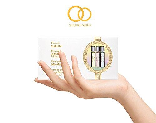 0.17 Miniatur (Hochzeitsparfüm Geschenkset für Damen - 3 Stücke von Parfüm Öl 5 ml Roll-on Miniaturen - Einzelhandelspreis: € 30.00 + Beste Hochzeit Parfüm Geschenkidee + Aroma des wundervollen Festes)