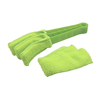 Triple Venetian Blind Cleaner - Removable,Hand Washable Microfibre Fabric Window Duster For Wet Or Dry Cleaning Of Slats