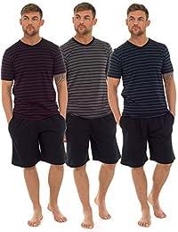 2b8863fd2f Mens T-Shirt Top & Shorts Pyjama Set Loungewear Cotton S-XL (1