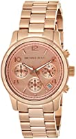 Michael Kors Womens Quartz Watch, Analog Display and Stainless Steel Strap MK5128