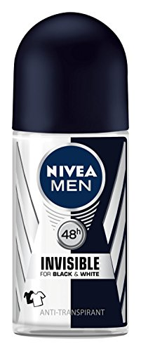Nivea Men Invisible For Black & White Power Deo Roll-on, Antitranspirant, 3er Pack (3 x 50ml) (T-shirt Beauty-dunklen)