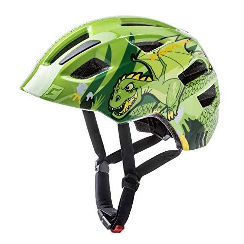 Cratoni Fahrradhelm Kinder Maxster, Green Dragon Glossy, Gr. S-M (51-56 cm)