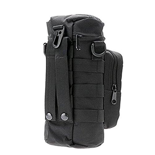Multifunktions Wasserkocher Tasche, fat. chot Military Wasser Flasche Taille Pack mit eine kleine Tasche Halter Hüftgurt für Gym Laufen Yoga Camping Wandern Reise Urlaub outdoor Sport (Molle Hals)