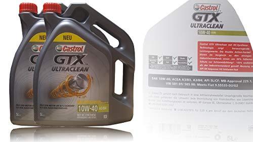 Castrol GTX Ultraclean 10W-40 A3/B4 2x5 Liter