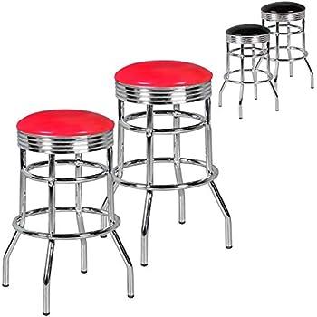 FineBuy 2er Set Barhocker King American Diner 50er Jahre
