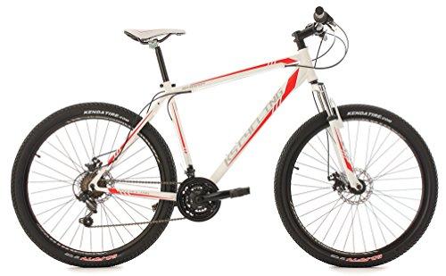 KS Cycling Fahrrad Mountainbike MTB Hardtail, Weiß/Rot, 27.5, 352M