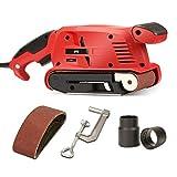SPTA Belt Sander 3 ×18-Inch, 13Pcs Sanding Belts, Bench Sander with 10Feet(3M) Power