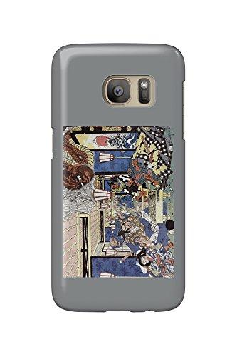 raiko-shitenno-minamoto-yorimitsu-and-the-earth-spider-japanese-wood-cut-print-galaxy-s7-cell-phone-