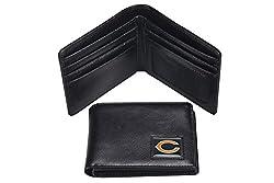 NFL Chicago Bears Men's Leather RFiD Safe Travel Wallet, 4.25 x 3.25