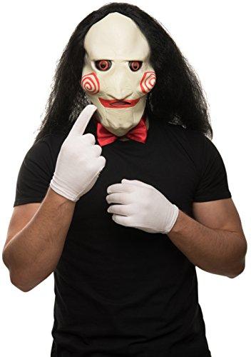 andschuhe + rote Fliege im SET (Jigsaw Maske)