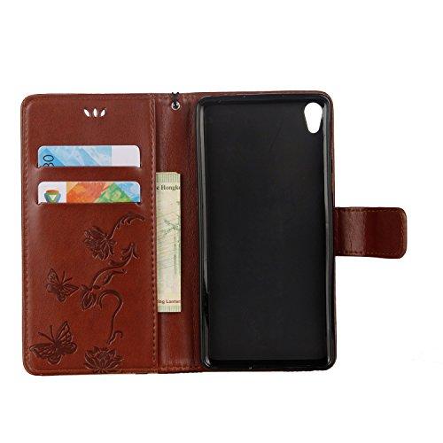 Cover Sony XA1, Sportfun Custodia Portafoglio In Pelle Con Wallet Case Cover Per Sony Xperia XA1 con Porta Carte e Funzione Stand (07) 01