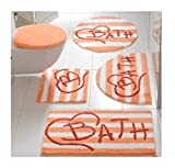 heine home Badteppich Bath XXL in modernem Design (Orange, Größe 5: 80 x 150 cm)