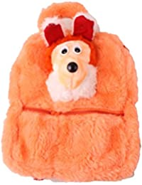 JBB Original Cute Teddy Soft Toy School Bag For Kids, Travelling Bag, Carry Bag, Picnic Bag, Teddy Bag (Orange).