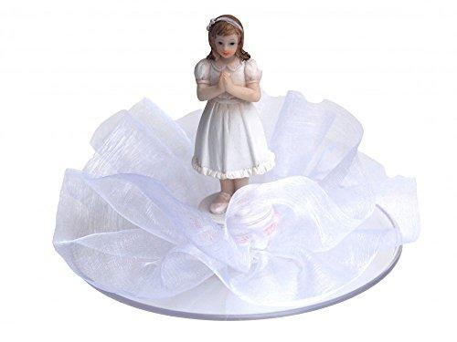 Unbekannt Tortendeko Tortenaufsatz Mädchen Weiß Kommunion Konfirmation Deko