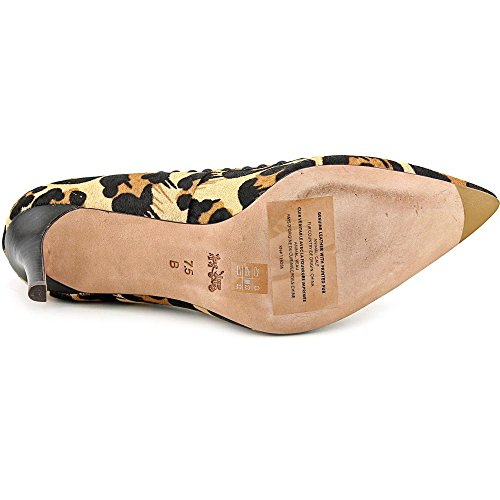 Coach Smith Rivets Damen Spitz Haar Pelz Stöckelschuhe Natural