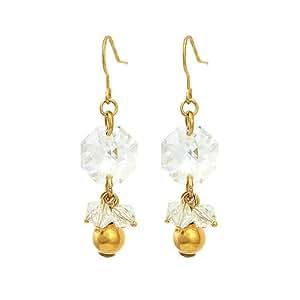 Glamorousky Boucles D'Oreilles Octogone Exquis Avec Élément Cristal De autrichien D'Argent (4223)