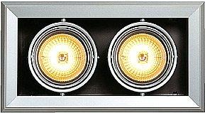 50w Wand Licht (SLV Aixlight Mod 2 Qrb111 Wand und Deckeneinbauleuchte, maximum 50 W, Kardanisch 154022)