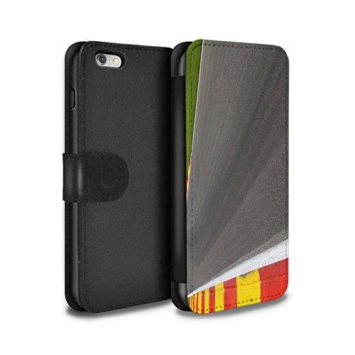 Stuff4 Coque/Etui/Housse Cuir PU Case/Cover pour Apple iPhone 6S+/Plus / Apex/Chicane Design / Piste Course Photo Collection Asphalte/Macadam