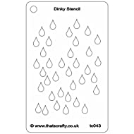 """That's Crafty Dinky Stencil 3""""X4.75""""-Raindrops Background"""
