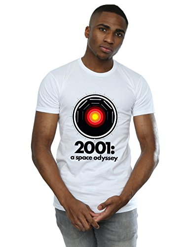 Absolute Cult 2001: A Space Odyssey Hombre HAL 9000 Camiseta Blanco Large