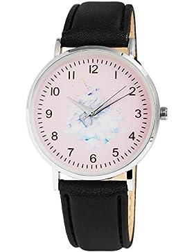 Damen-Armbanduhr Weiß Silber Schwarz Blau Unicorn Einhorn Analog Quarz Metall Leder Modisch Damenuhr Kinderuhr...