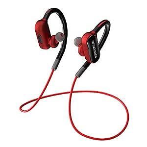 KimTok CET172 Wireless Bluetooth In Ear Neckband Earphone with Mic (Black, Red)