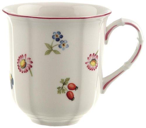 Villeroy & Boch Petite Fleur Becher mit Henkel / Hochwertige Porzellantasse in Weiß / Ergänzung zu Geschirrsets der Petite Fleur Serie / 1 x Tasse (0,3l)