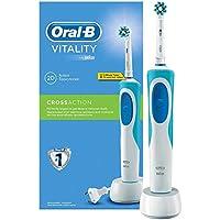 Oral-B Vitality Crossaction Spazzolino Elettrico Ricaricabile con tecnologia Braun, Bianco/Blu