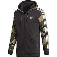 adidas Camo FZ Hoody Utiblk Camiseta, Hombre, Negro, S