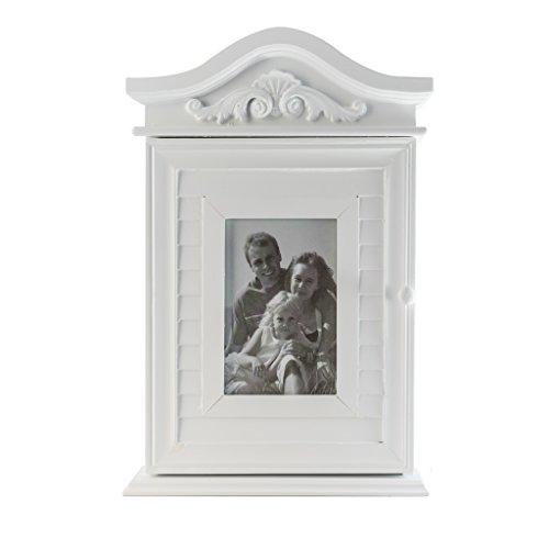 elbmöbel Schlüsselkasten mit Foto und Bilderrahmen in weiß antik aus Holz - 4