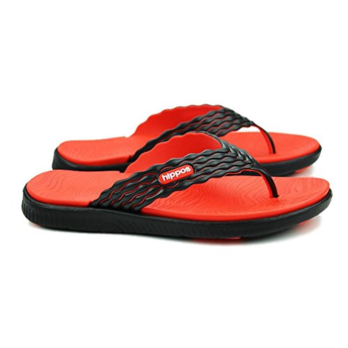 SHANGXIAN Chaussons tongs été extérieur plat talon bleu vert rouge en amont chaussures Orange