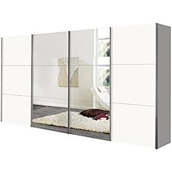 schwebet renschrank schiebet renschrank ca 400 cm wei mit spiegelfront k che. Black Bedroom Furniture Sets. Home Design Ideas