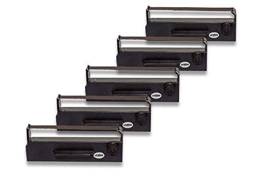 Preisvergleich Produktbild vhbw 5x Farbband Nylonband Tintenband für Nadeldrucker Epson TM-U 295 wie ERC-27, 653N, C43S015366
