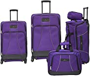Skyway Soft Trolley, 5 Pc Set, Purple- 4w, 431-5P-517-SET