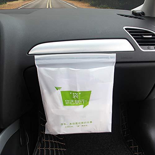 WENTS Auto Mülleimer - 45 Stück Einweg Auto Müllsack große Kapazität mit Einem Keine Spur starken klebrigen Streifen tragbaren Müllsack bequem für Auto, Büro und Zuhause - Kostengünstige Einweg