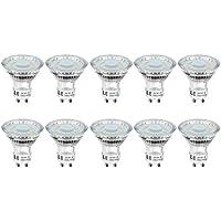 LE Bombillas LED, GU10 4W Equivalente 50W Halógena, Blanco Cálido 350lm 2700K, Pack de 10