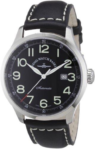 Zeno Watch Basel Herren-Armbanduhr XL Retro Tre Analog Automatik Leder 6569-a1